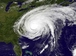 Hurricane Sandy off the Carolinas on Oct.28, 2012. NASA photo